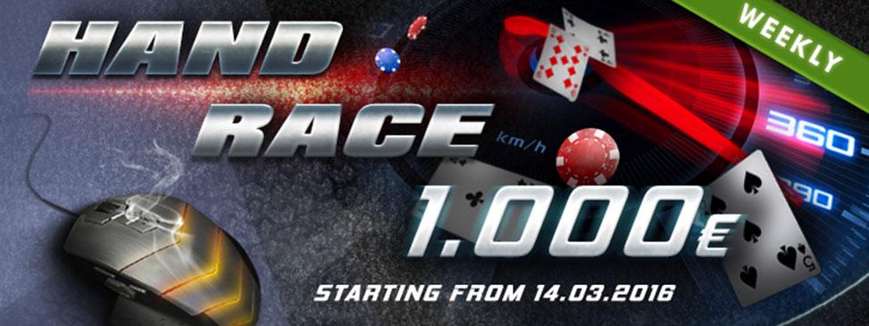Hand Race Challenge 1.000€ Weekly